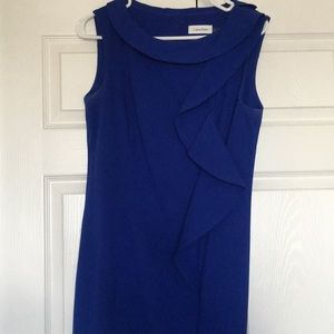 Calvin Klein blue fitted dress
